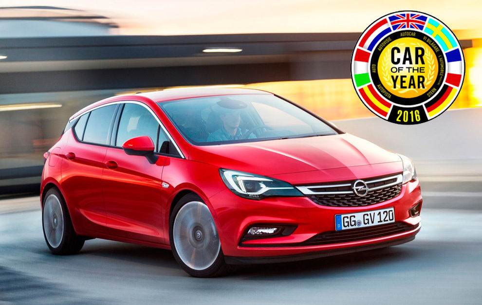 "Opel Astra ""Car of the year 2016"""