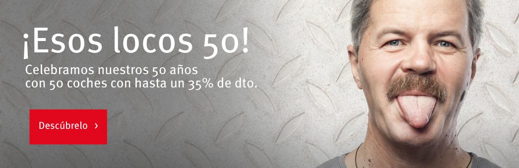 Celebra nuestros 50 años  ¡a lo loco!