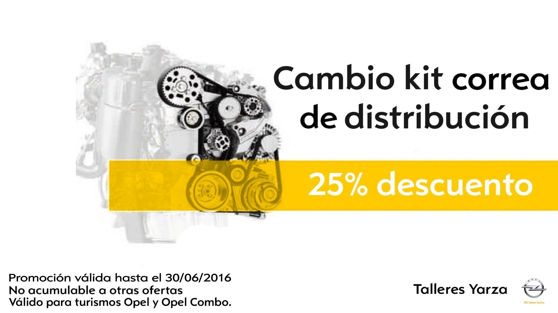 25% Dto. Cambio kit correa distribución