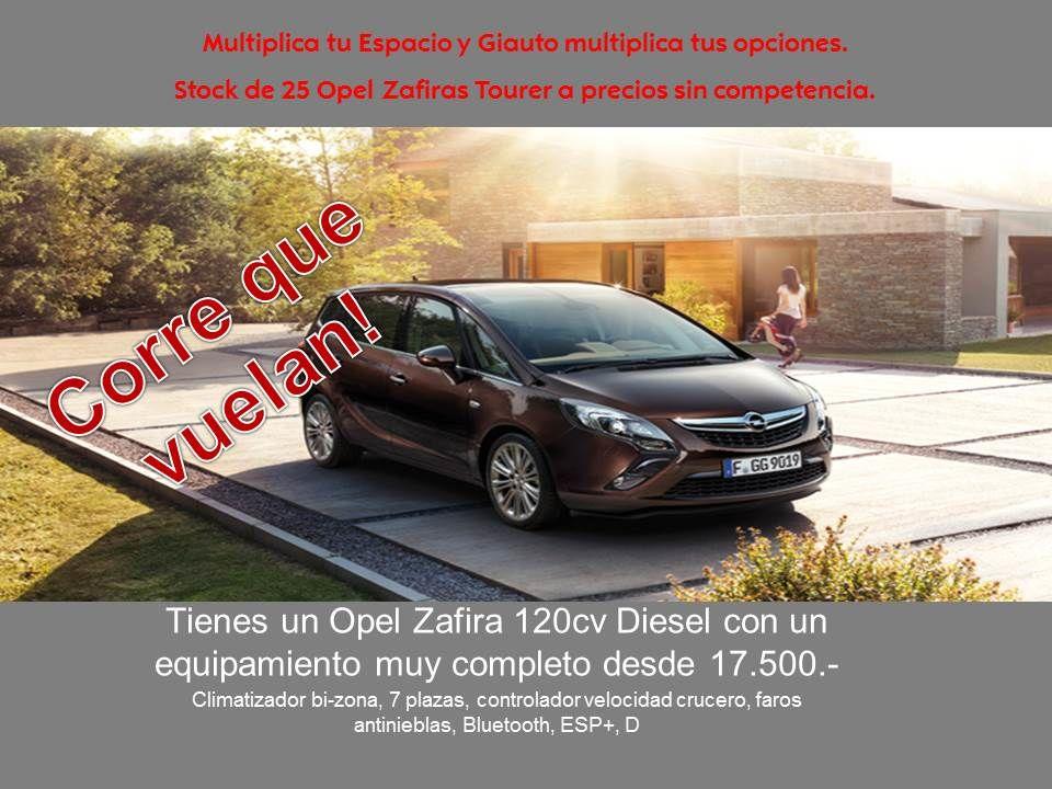 Stock de 25 Opel Zafira Tourer a precios sin competencia