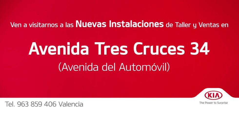 NUEVAS INSTALACIONES EN AV. TRES CRUCES 34 (AV. DEL AUTOMÓVIL)