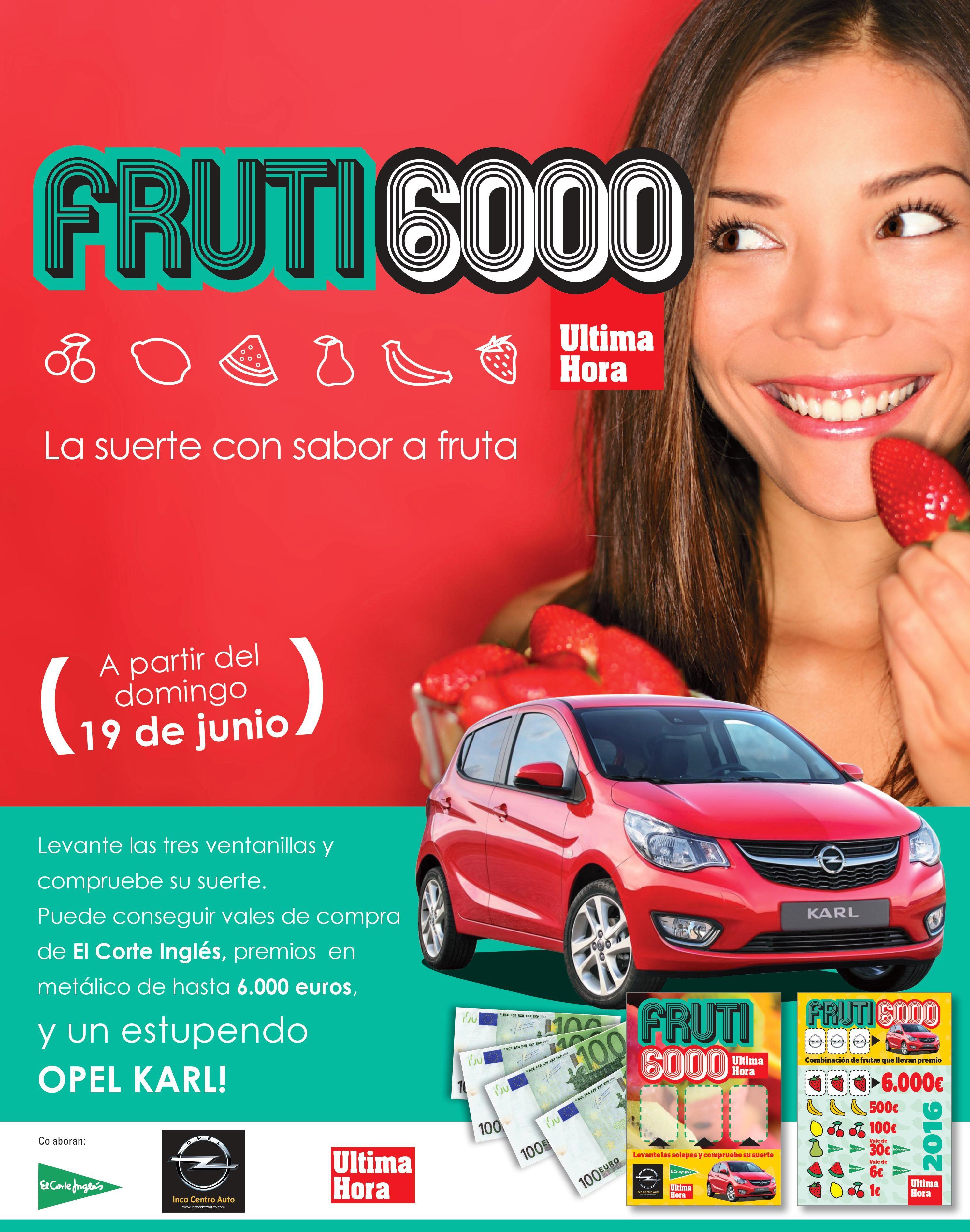 Este verano OPEL Inca Centro Auto patrocina el Frutijuego de Ultima Hora