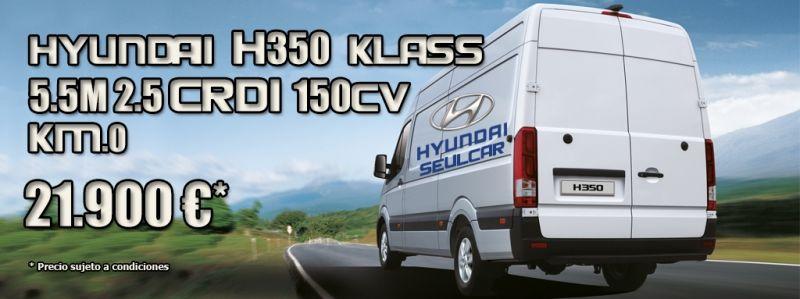 Hyundai H350 Km.0 por sólo 21.900 €