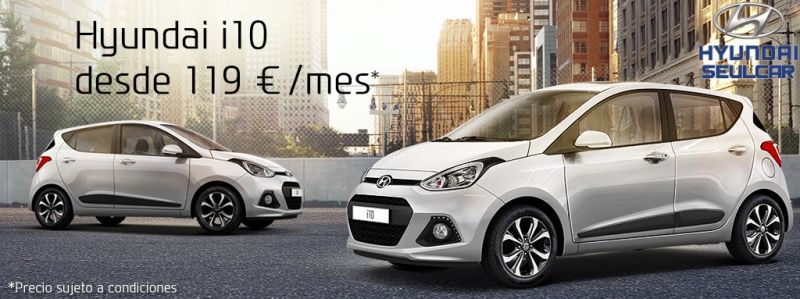 Hyundai i10 desde 119€/mes