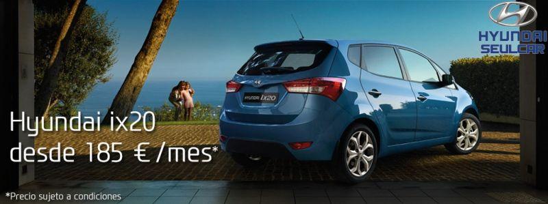 Hyundai ix20 por sólo 185€/mes