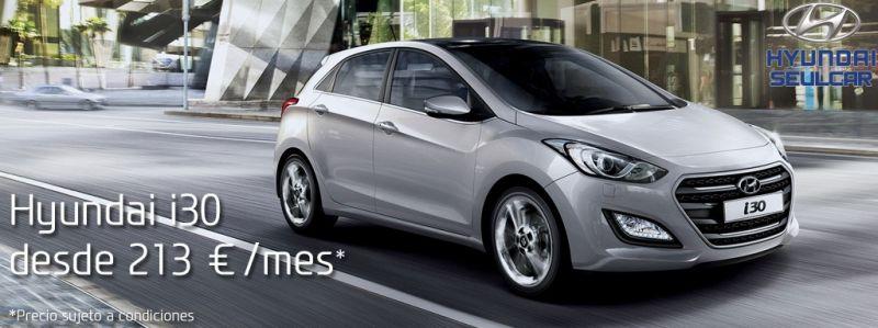 Hyundai i30 desde sólo 213€/mes