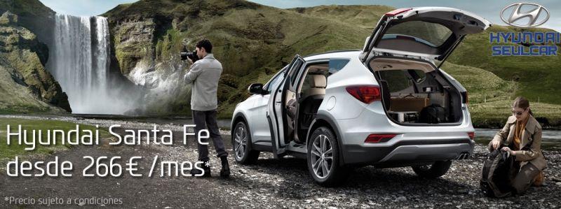 Hyundai Santa Fe desde 266€/mes