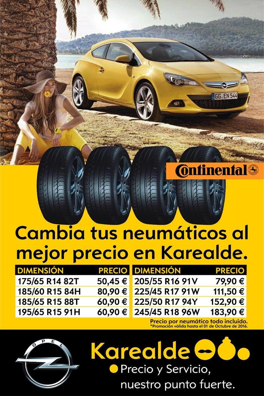 ¿Necesitas cambiar los neumáticos de tu Opel?