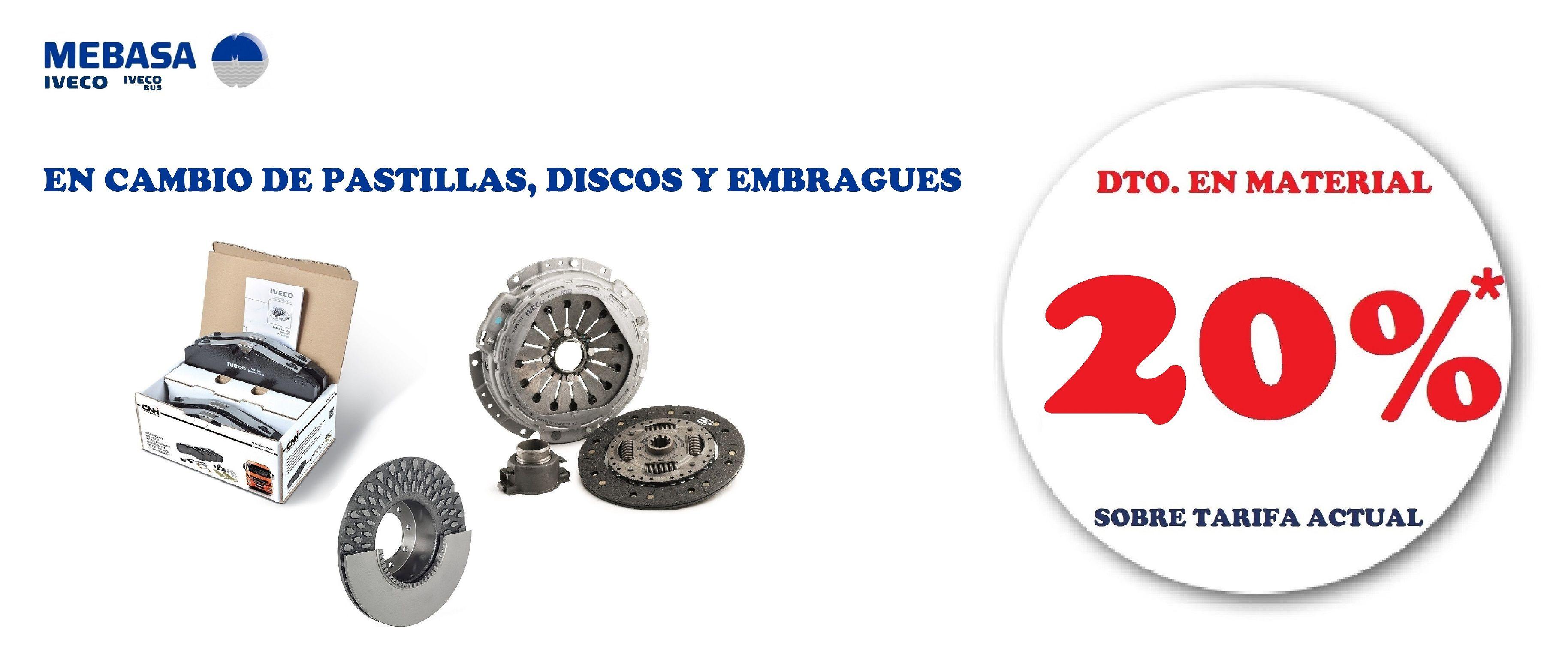 CAMBIO DE PASTILLAS, DISCOS Y EMBRAGUES