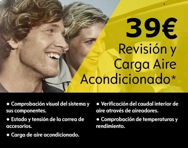 OFERTA REVISION Y CARGA DE  AIRE ACONDICIONADO 39€