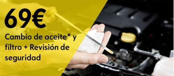 CAMBIO DE ACEITE Y FILTRO 69€ IVA INCLUIDO