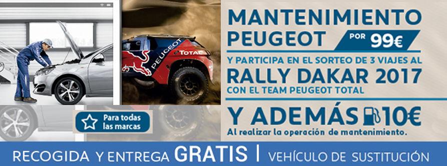Mantenimiento Peugeot por 99 euros