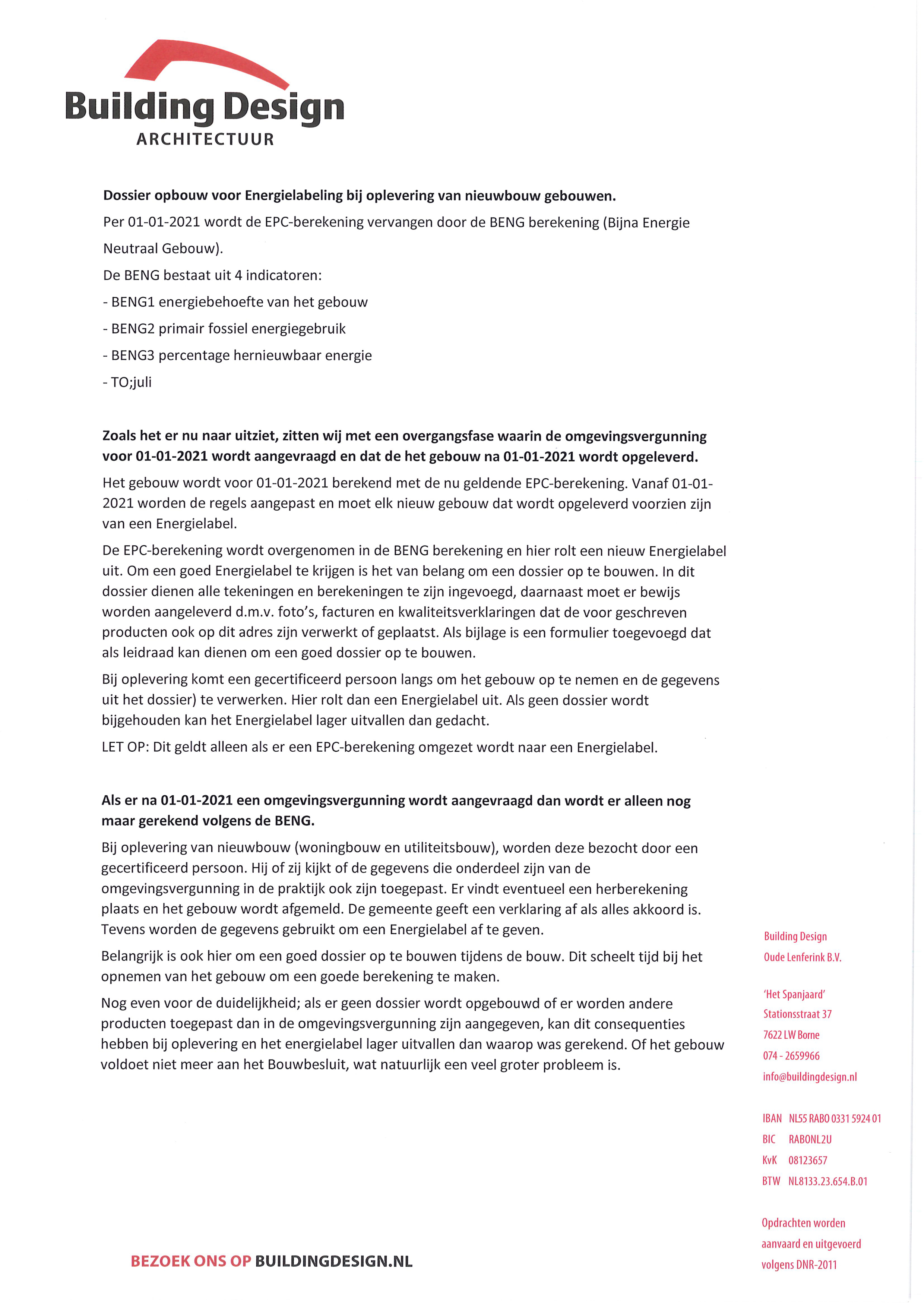 Document: Dossier opbouw Energielabeling