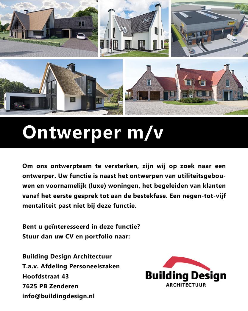 interieur designer vacature vacatures building design architectuur