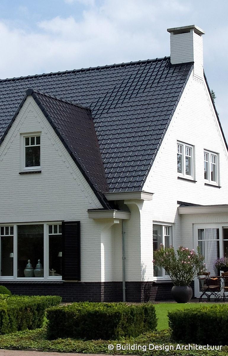 Witte huizen met zwarte ramen ara architecten katleen raemen en davy raemenwoning lsch witte - Gevels van hedendaagse huizen ...