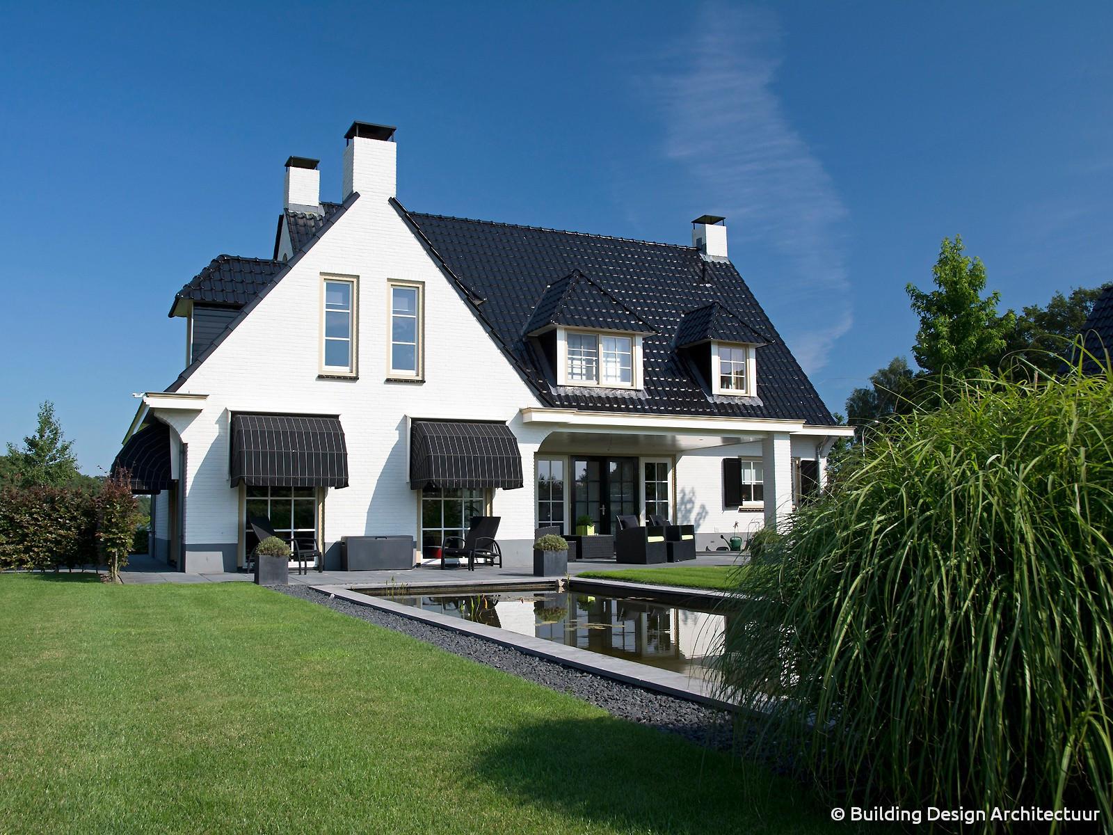 Building design architectuur for Landelijke villa bouwen