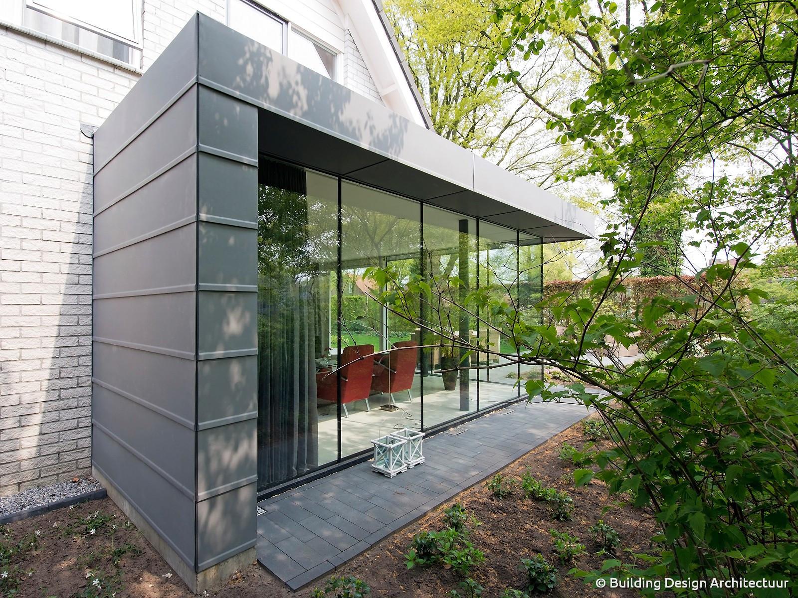 Building design architectuur - Moderne uitbreiding huis ...