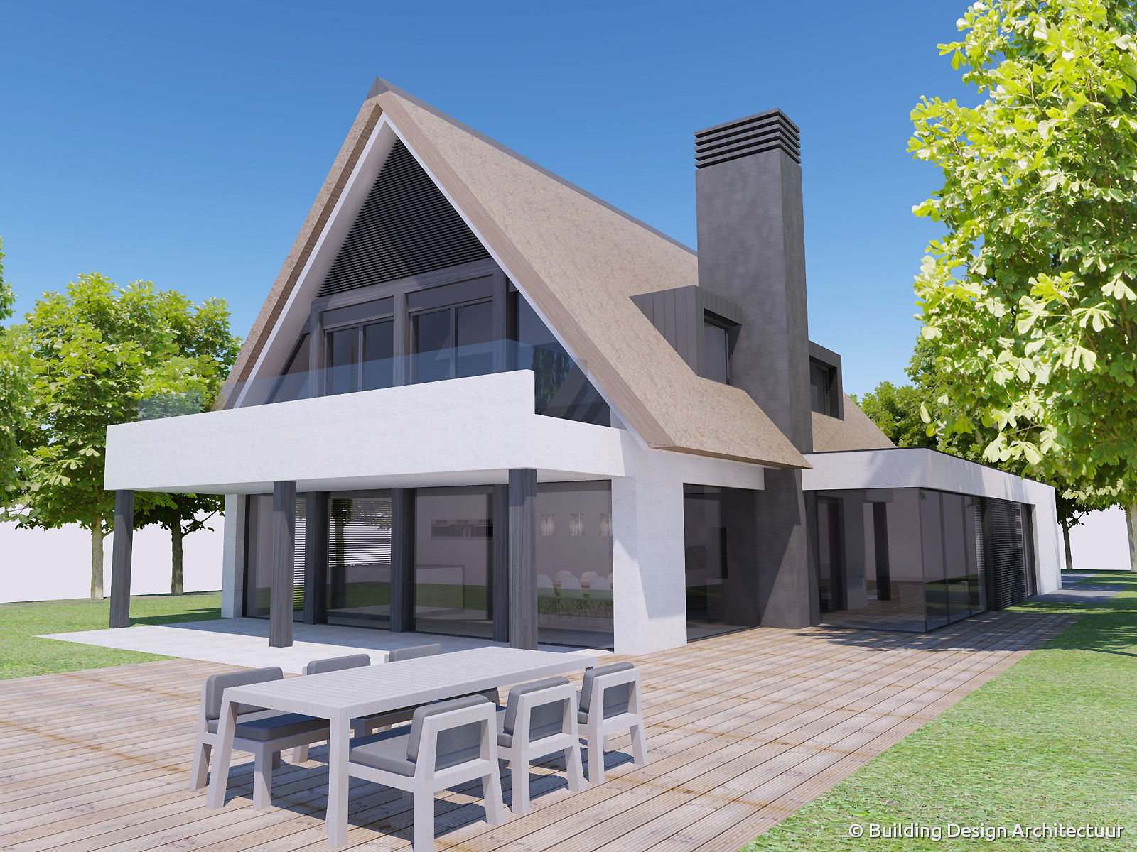 Moderne vrijstaande woning bouwen gallery of tekening for Moderne vrijstaande woning