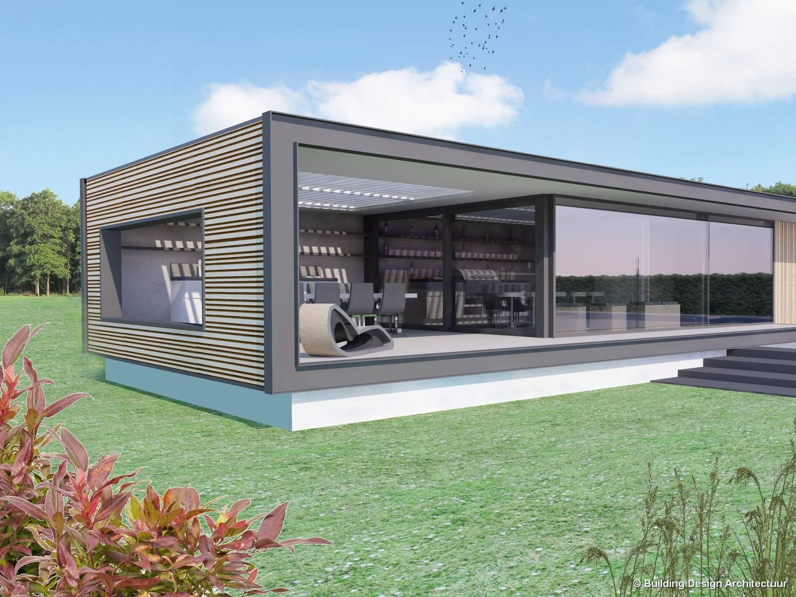 Building design architectuur - Modern overdekt terras ...