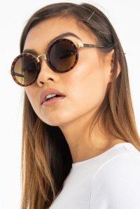 264db92389 £7.99Brown Leopard Gold Detail Round Frame Sunglasses - Ryen ...