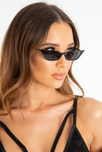 37728dfb37 £7.99Black Rounded Oval Oversized Sunglasses - Chyna · £7.99Black Slim  Pointed Cat Eye ...