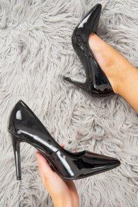 c97b8fea7dd £19.79 (40% OFF)Black Patent Pointed Toe Heels - Tasha