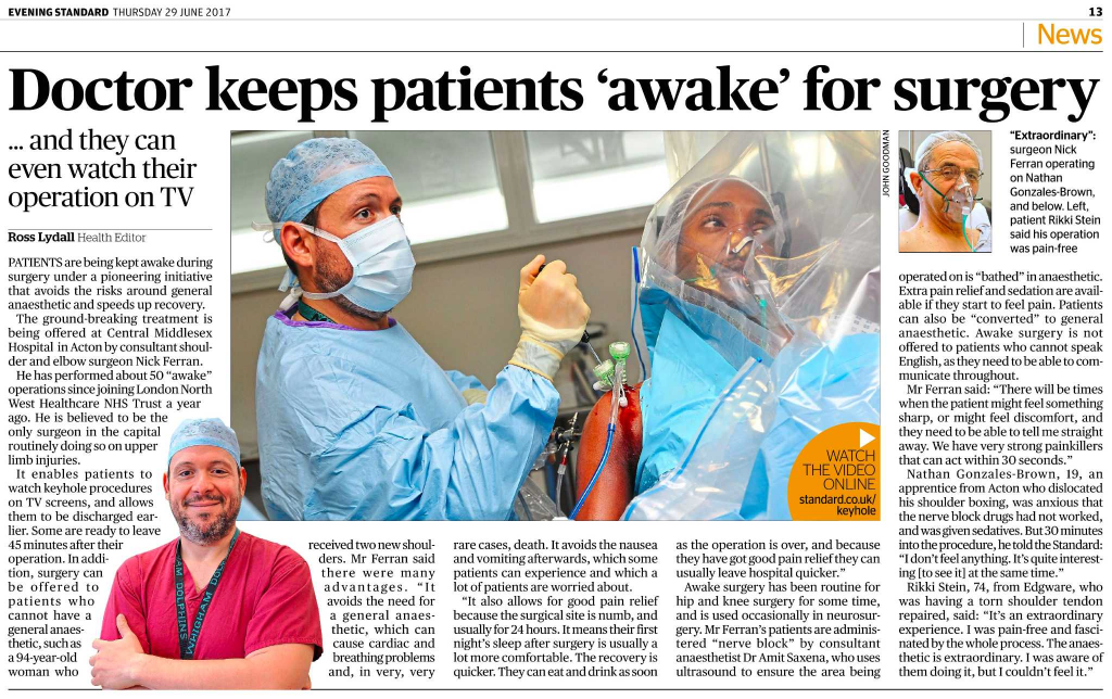 Doctor keeps patients 'awake' for surgery