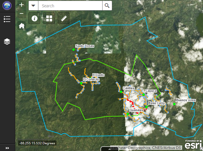 Cusuco National Park Spatial Data