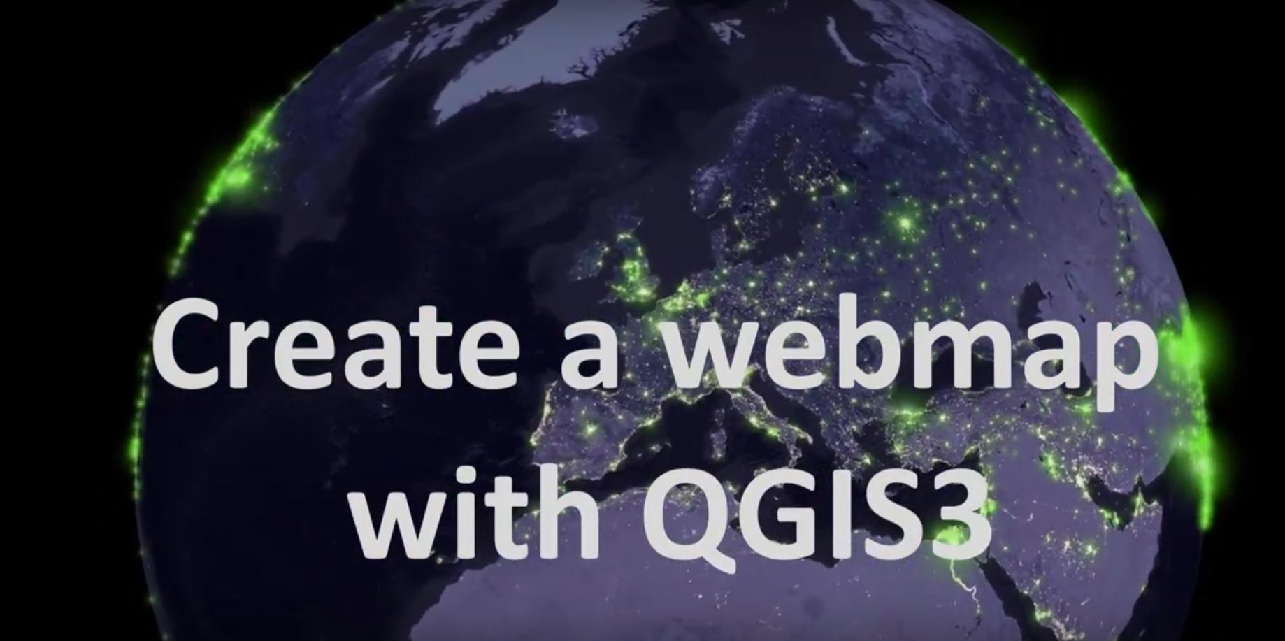 Create a webmap with QGIS