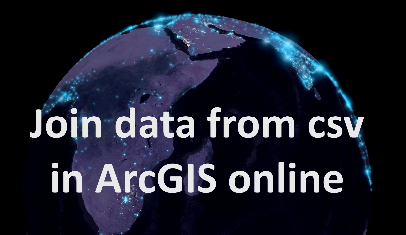 Join data from csv in ArcGIS Online