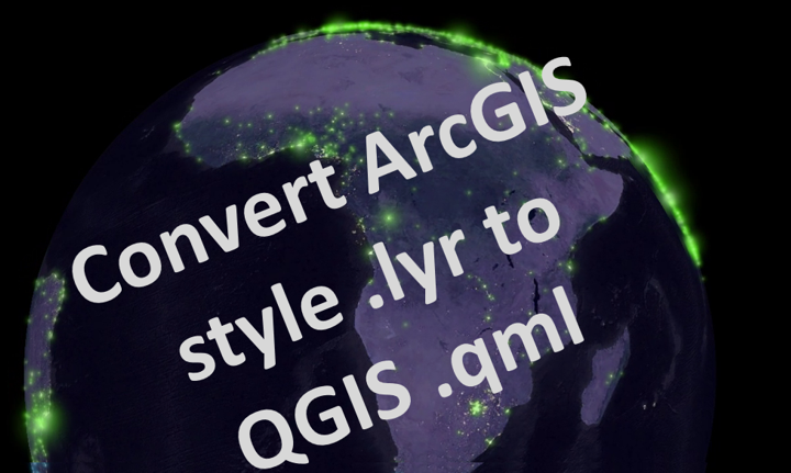 Convert ArcGIS layer files (.lyr) to QGIS styles (.qml)