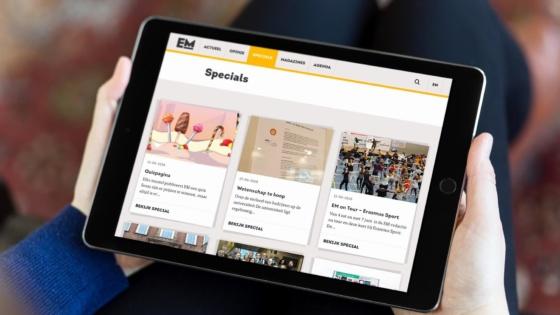 De specials-pagina van Erasmus Magazine