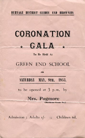 Coronation Gala - Burnage District Guides and Brownies