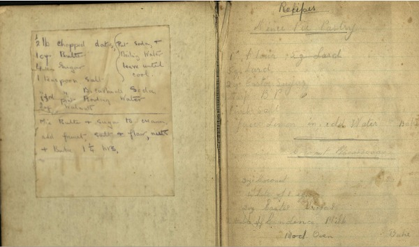 Recipe Scrapbook from World War 2 - Part 1