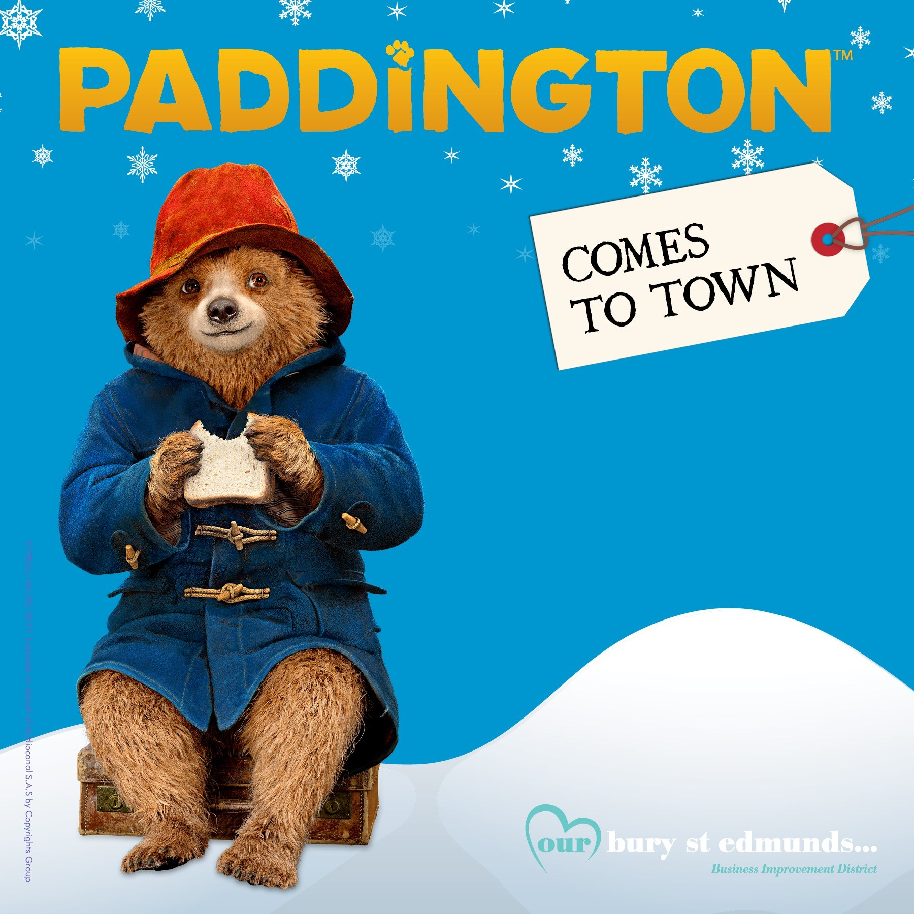 Paddington Bear is Coming to Bury St Edmunds!