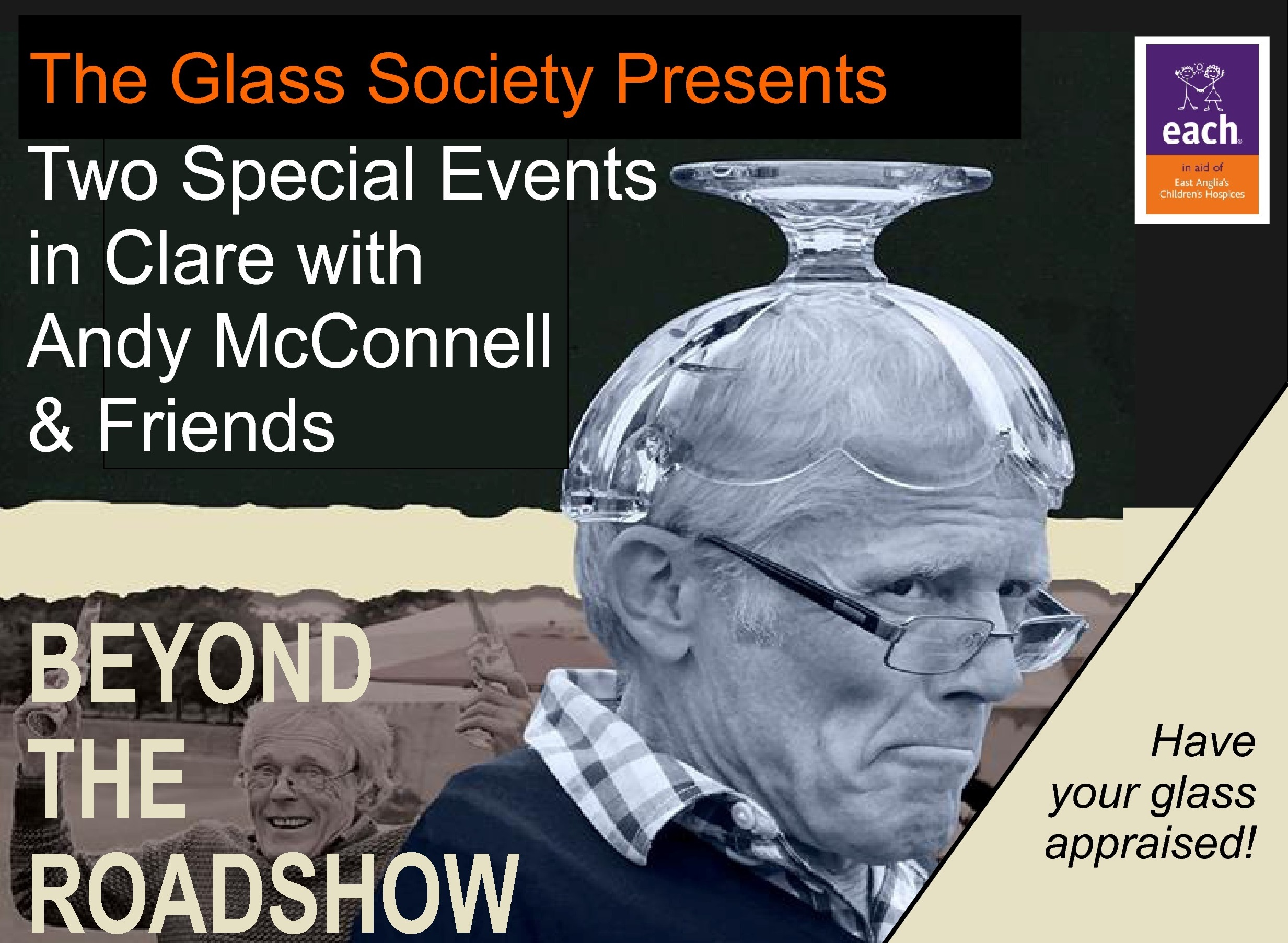 Have Your Glass Appraised with BBC Antiques Roadshow glass expert Andy McConnell and Friends