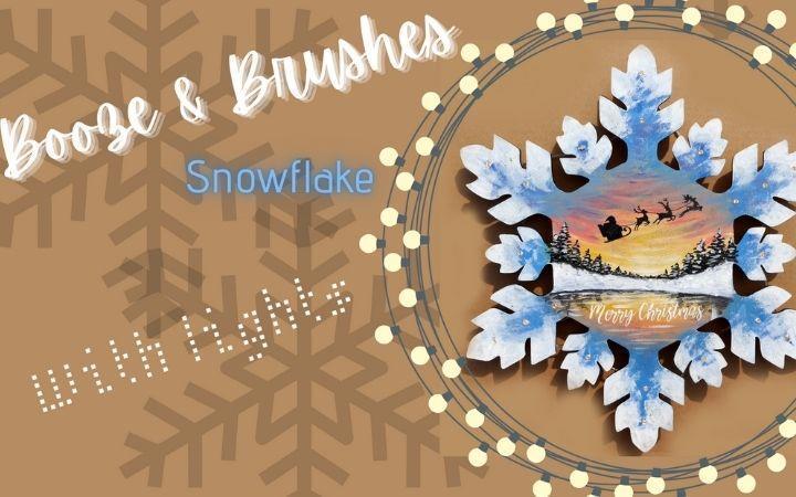 Booze & Brushes - Christmas Snowflake