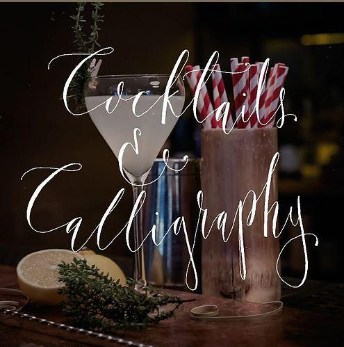 Cocktails & Calligraphy with Artist Kirstie Bird