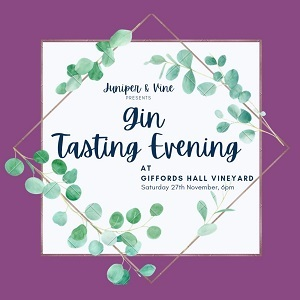 Gin Tasting Evening at Giffords Hall Vineyard