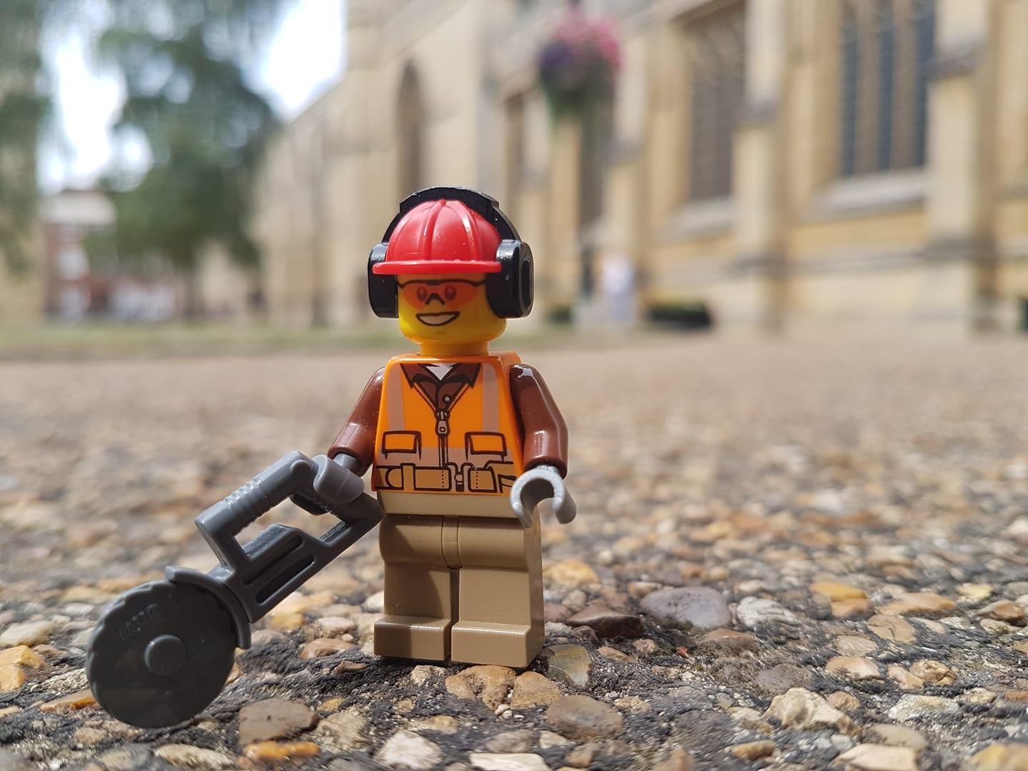Visitors Donate to LEGO Replica Cathedral