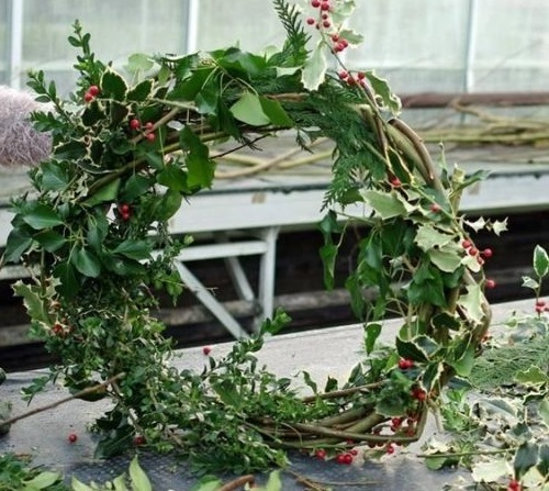 Nowton Park Wreath Workshop.