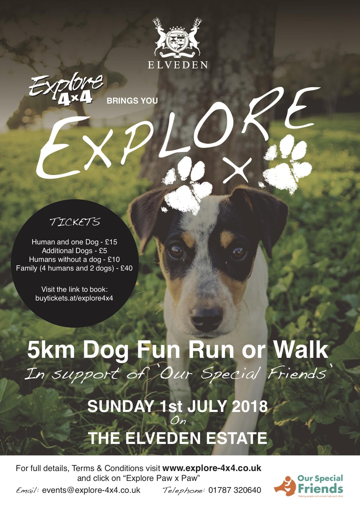 Explore Paw x Paw - 5km Dog Fun Run or Walk