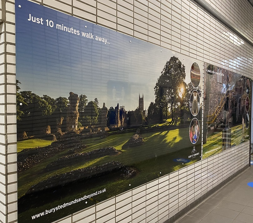 New Photo Boards Provide Welcome to Bury St Edmunds Visitors at Train Station