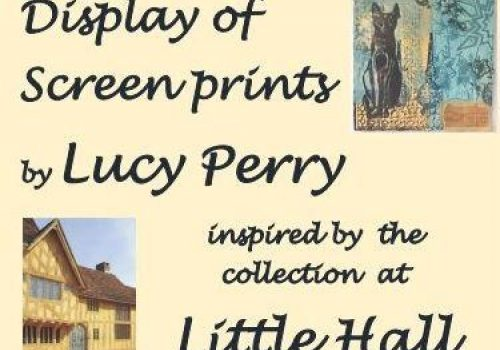 Display of Screen Prints by Artist Lucy Perry inspired by Little Hall