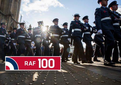 Bury St Edmunds Freedom Parade - celebrating 100 years of the RAF