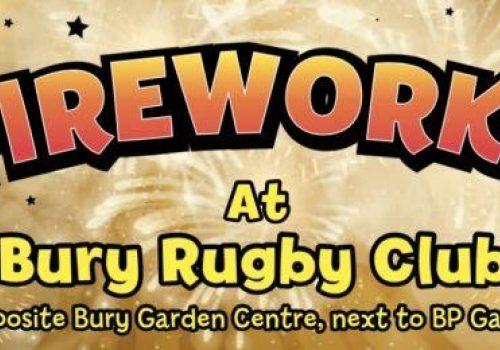 Fireworks at Bury St Edmunds Rugby Club