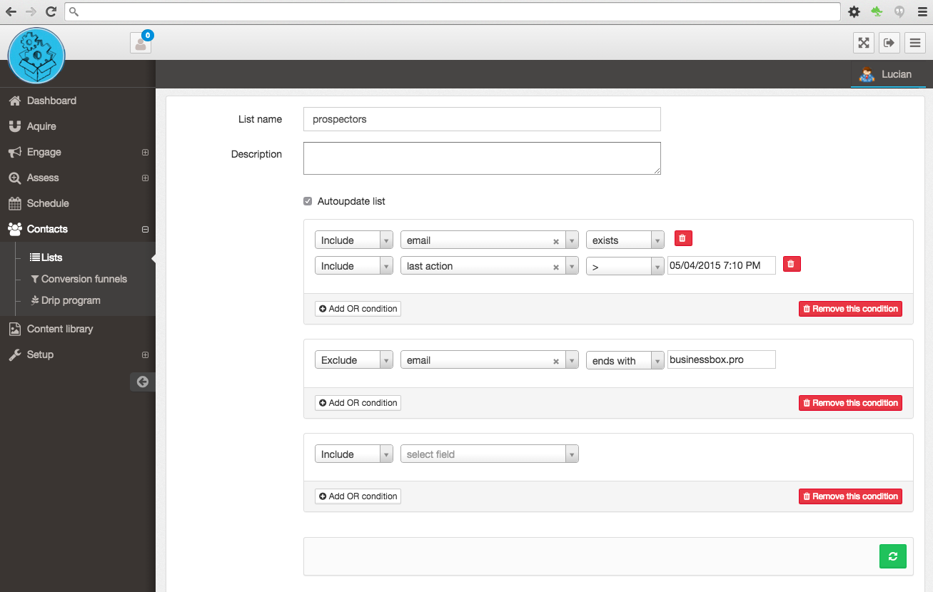 Create dynamic contact list for your communication