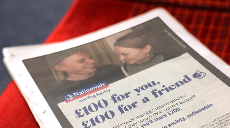Nationwide refer-a-friend newspaper advert