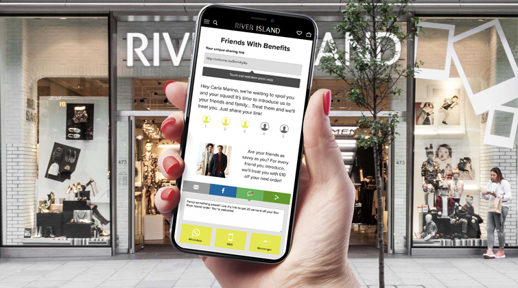 River Island's new refer-a-friend programme
