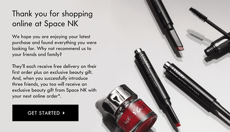 Space NK offer gifts with purchase
